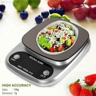 9DB7 Stainless Steel Digital Scale 10kg/1g with Tray Portable Kitchen Scale