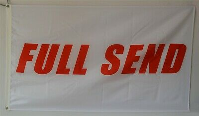 Full Send Banner Flag 3x5ft Nelk Nelkboys for The Boys white banner US Shipper