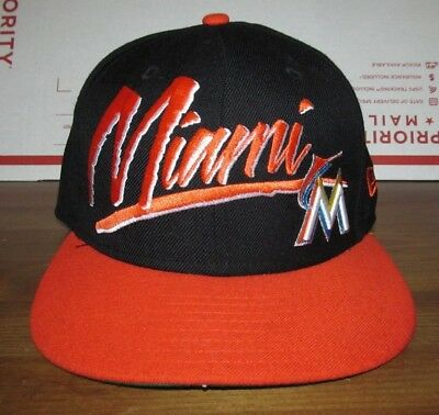 size 40 95a37 10a1f New Era Miami Marlins Baseball Hat Snapback Cap 9fifty MLB