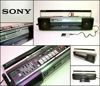 SONY CFS-W401S Stereo Cassette Recorder 4 Bands Radio Boombox