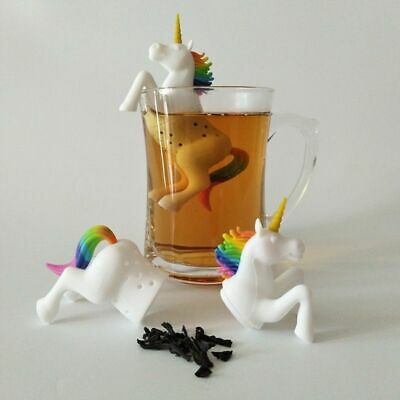 Unicorn Shape Tea Infuser Strainer Loose Leaf Herbal Spice Filter Bag Silicone