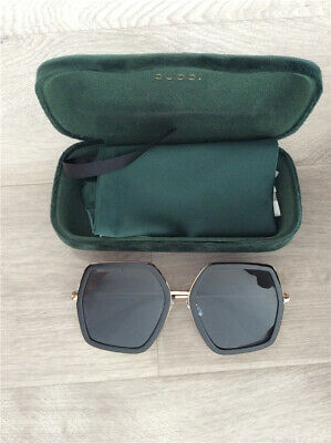 72dc0c4acb5a Womens Pre-owned GUCCI Polygon Oversized Retro Outdoor Drving Fashion  Sunglasses
