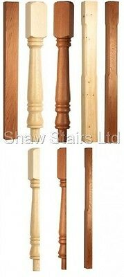 Stair Posts- Square, Stop Chamfered, Turned Georgian, Full/Half-Oak,Pine,Hemlock