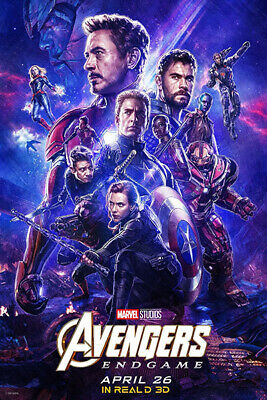 L1075 Art Decor The Avengers 4 Endgame Poster Hot New Marvel Superheroes Movie