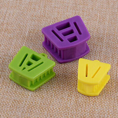 3x Dental Latex Rubber Silicone Mouth Prop Bite Blocks Opener Retractor L+M+S