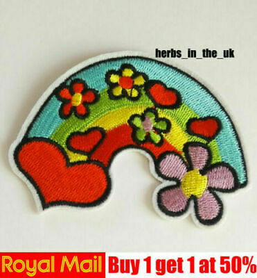Rainbow Star Unicorn Embroidered Patches Badges Iron On / Sew On Applique