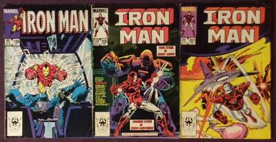 Iron Man #199,200 & 201. (Marvel 1985) 3 x issues.