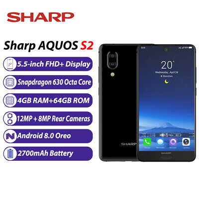 Cellphones & Telecommunications Sharp Aquos S3 Fs8032 4g 64g Dual Rear Cameras 6.0 Inch Snapdragon 630 1080 X 2160 Pixels Android 8.0 3200mah Nfc Smartphone