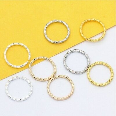 100Pcs Twisted Round Open Ring Jump Ring Spacer Beads Connectors DIY Findings