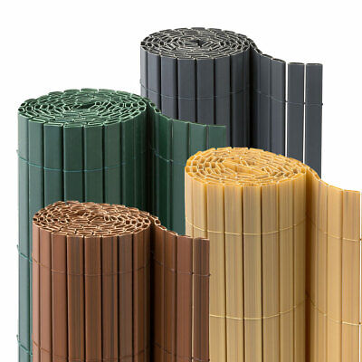 PVC Fence Screen Bamboo Mat Border Panel Garden Wall Privacy Sizes Colours