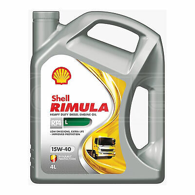 Shell Rimula R4 L 15w-40 E9, E7, CJ-4, CI-4 Low Saps Engine Oil - 5 Litres