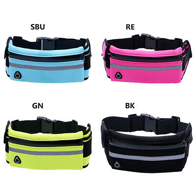 Waterproof Running Bum Bag Fanny Pack Travel Waist Money Zip Belt Pouch Sports
