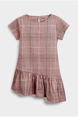 Next Girls Pink Check Asymmeric Dress Age 11 Years BNWT Tag £19