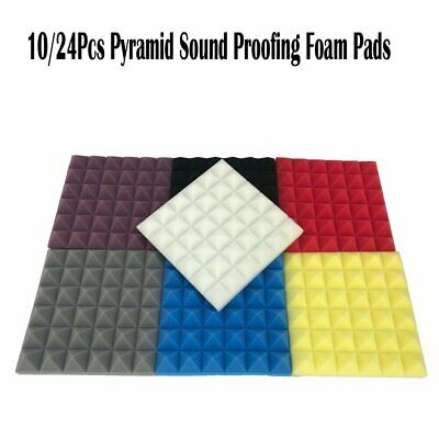 10/24Pcs Studio Acoustic Foam Sound Absorbtion Proofing Eggshell Panel 30x30CM
