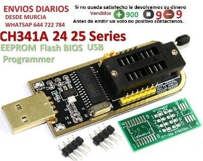 CH341A 24 25 Series EEPROM Flash BIOS USB Programmer with Software & Driver