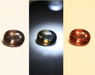 0.62ct Colour Change Garnet - Custom Cut Gem with Rare Superb Colour Change