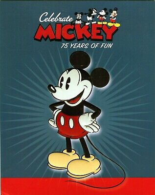 2004 Australia Celebrate Mickey 75 Years Of Fun Sheetlet Stamp Pack Mint Cond