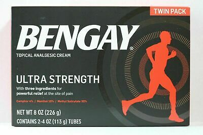 Bengay Ultra Strength 2 x 4oz.UK SELLER Exp 02/2020