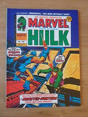 Mighty World Of Marvel Incredible Hulk No. 102 September 14 1974