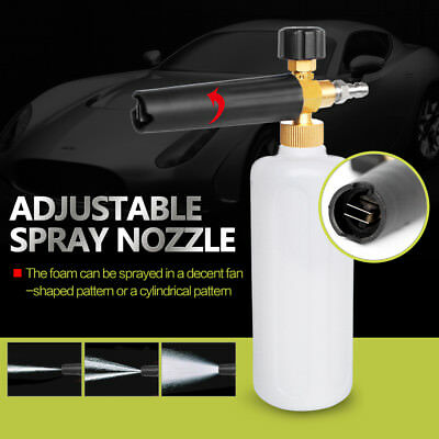 UK Pressure Washer Sprayer Snow Foam Lance Tool 1L Soap Bottle Jet Car Cleaning