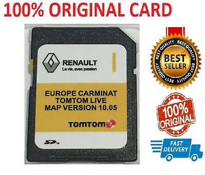 Renault Tom Tom Live Carminat 2019 SD Card Sat Nav Map Update Version 10.05