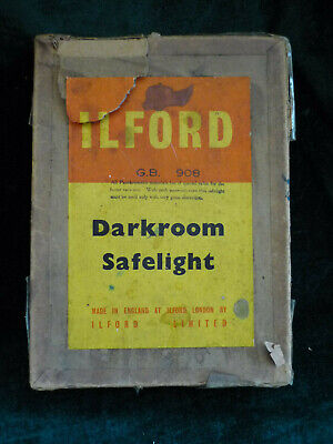 Ilford vintage glass darkroom filters type GB 908 x2 in there original box.