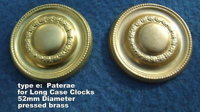 ref 14/1 Pair Pressed brass long case clock paterae type E