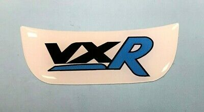 Vauxhall VXR Blue - White Sticker 48mm HIGH GLOSS DOMED GEL Corsa Steering Wheel