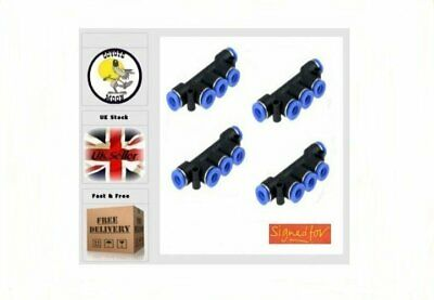 6mm one touch manifold 5 way Pneumatic Air water UK Seller