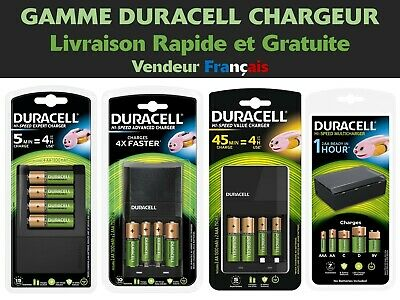 Chargeurs de Piles Gamme Duracell Rechargeable