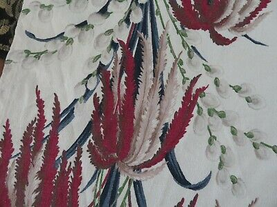 SALE 3pc. Vintage BARKCLOTH 1 Price  Perfect for Pillows 1940's 50's Barkcloth