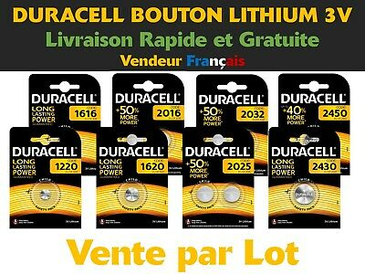 Piles CR 1220 1616 1620 2016 2025 2032 2430 2450 Duracell Bouton Lithium 3V