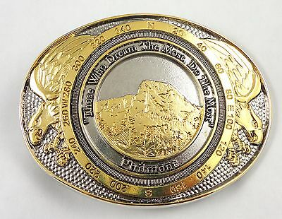 Philmont Scout Ranch Screaming Eagle 2-Tone Belt Buckle - Boy Scouts of America