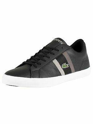 c0522a739 LACOSTE LEROND 119 3 Cma Mens Black Leather Lace Up Sneakers Shoes ...
