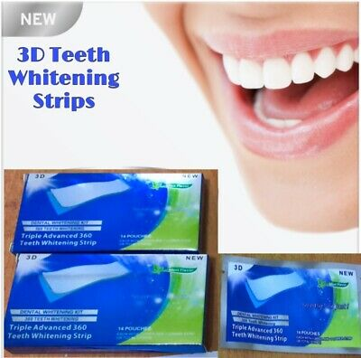 28 PROFESSIONAL ADVANCED TEETH WHITENING HOME TOOTH BLEACHING Strips