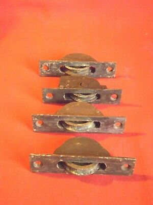 4 Vintage Reclaimed Cast Iron Sash Window Wheels Non Matching 3 + 1