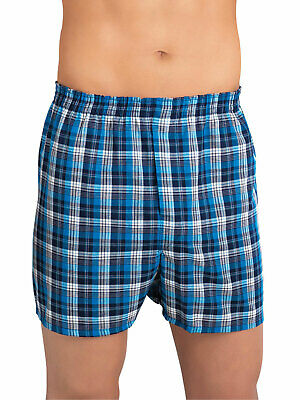 Fruit of the Loom Men's Relaxed Fit Tarten Plaid Boxer Underwear - 3 Pack