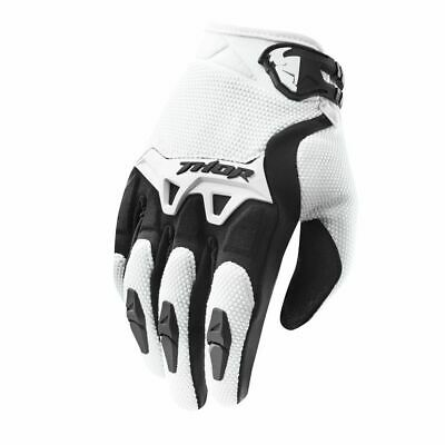 New 2019 Thor Spectrum White Black Adult Gloves Motocross Enduro BMX Downhill