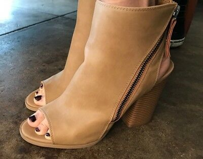 3ff34cdd884 STEVE MADDEN DOLCE Vita Taupe Suede Slip On Ankle Boot Women's Size ...