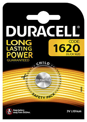 Pile Bouton CR1620 Duracell Lithium 3V