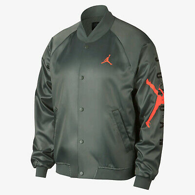 c34384f7585 Jordan Jumpman Air Stadium Jacket New Mens Vintage Lichen Crimson AO0444-351