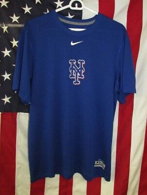 0c4a4420 Nike Dri-Fit NY Mets MLB Baseball Authentic Collection T-Shirt Mens M
