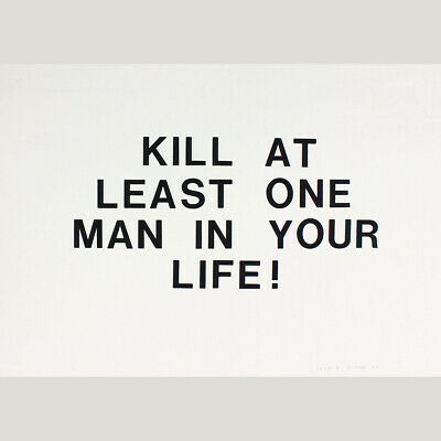 Fluxus. Nikolaus Urban: KILL AT LEAST ONE MAN IN YOUR LIFE! 1976