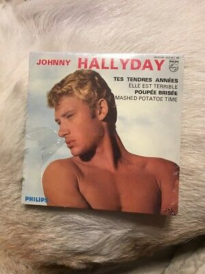 Collector Neuf Cd Johnny Hallyday 4 Titres 2 Faces Tes Tendres Annees