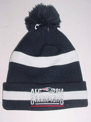 8b52efad2 New Era NEW ENGLAND PATRIOTS Sport Knit AFC CHAMPIONS Stocking Beanie Cap  Hat