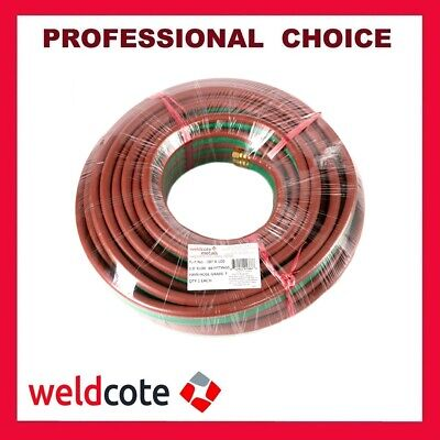 "Weldcote 100ft. X 3/8"" Grade-T Premier Twin Welding Hose for Oxigen & Propane"