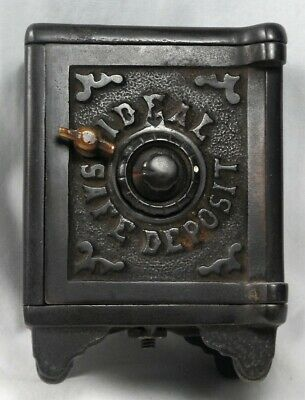 Antique Cast Iron 'Ideal Safe Deposit' coin bank