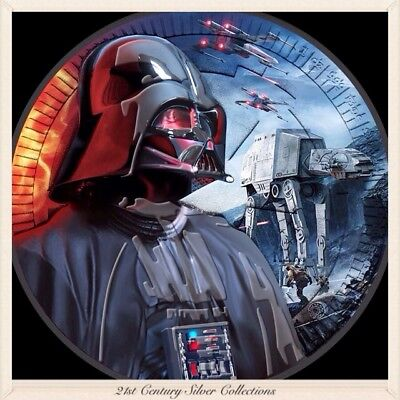 2017 1 Oz .999 Silver Star Wars Darth Vader Walker Black Ruthenium Coin