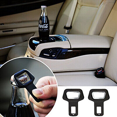 1* Car Stainless Steel Warning Insert Seat Belt Buckle Plastic Auto Car Opener