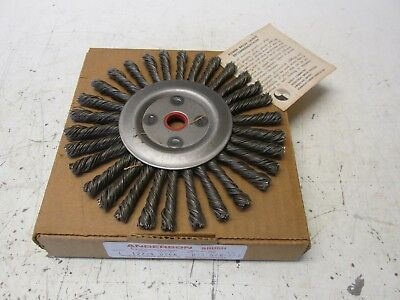 "6"" ANDERSON Wire Whee Knot Wire Wheel Grinder Brush 5/8 Arbor Made in USA NOS"